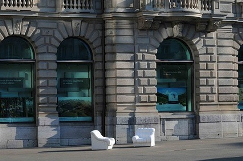 sofa in white by ai weiwei