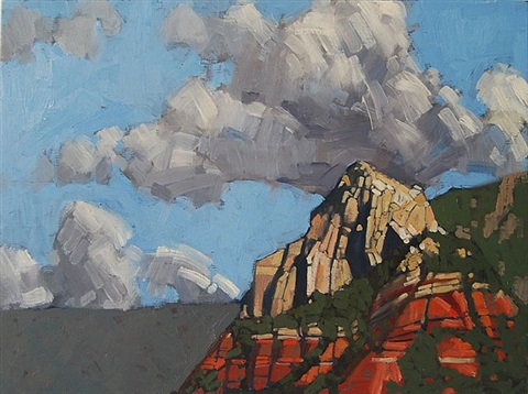 untitled (mountain and clouds) by paul stempen
