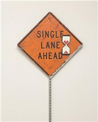 single lane by banksy