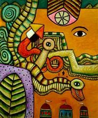 hallucination in desert landscape by alan davie