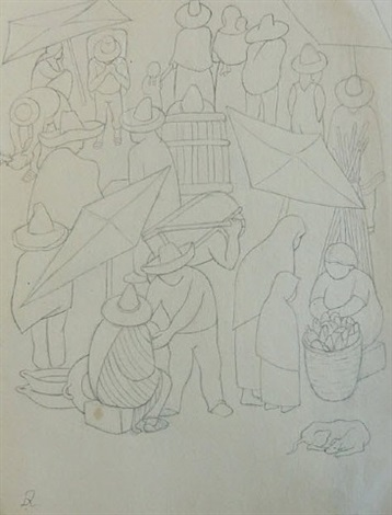 tianguis by diego rivera