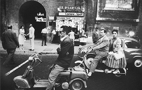 red light, piazza flaminica, rome by william klein