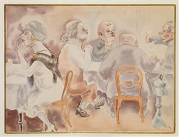 wine bar by george grosz