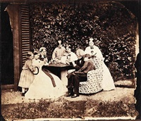 hassard dodson family sitting round a table playing cards by lewis (charles lutwidge dodgson) carroll