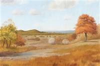 autumn landscape by hugo herbeck