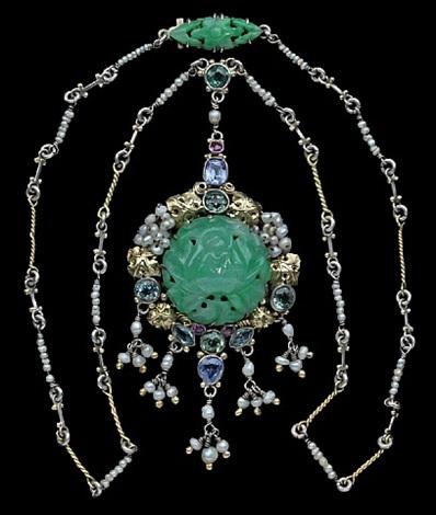 superb arts & crafts necklace by dorrie nossiter