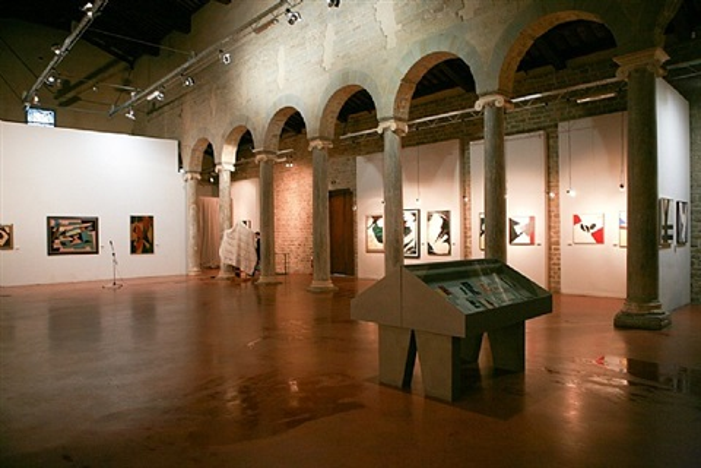 installation view basilica di s. alessandro, fiesole by silvano bozzolini