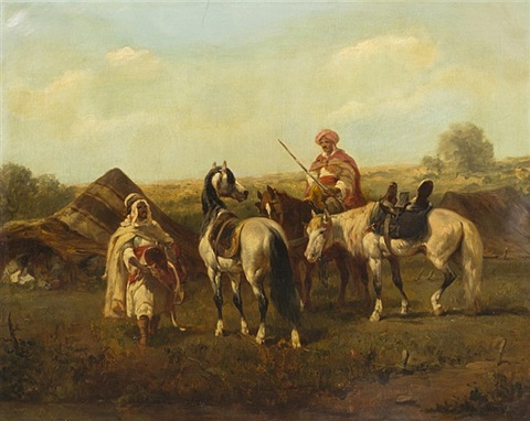 on horseback by adolf schreyer
