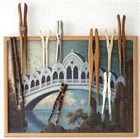 détrompe-l'oeil. serie erich bamler. il ponte barocco-gotico. by daniel spoerri