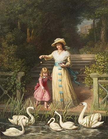 feeding the swans by philip richard morris