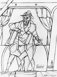 le docteur schweitzer en voyage by valerio adami