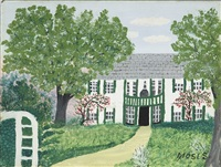 thomas moses, norfolk, conn © grandma moses properties co., new york by grandma moses