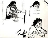 etude pour 'la grandmere de l'artiste' by edouard vuillard