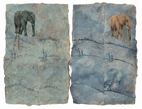 elephant day 2, 2012 by paul waldman