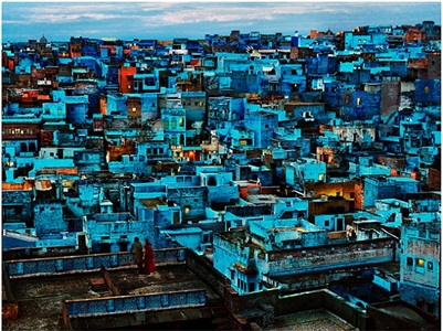 blue city, india by steve mccurry