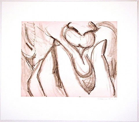 soft ground etching - lavender by bruce nauman