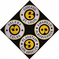 <!--1-->us 66 (cities) by robert indiana