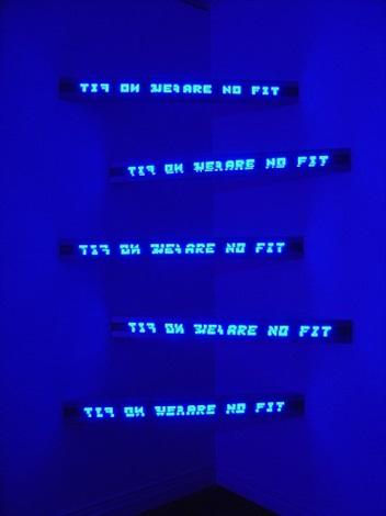 blue corner five by jenny holzer