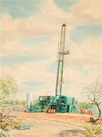 oil rig by warner hoople