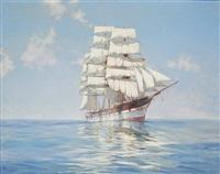 idle sails, loch etive in a calm by montague dawson