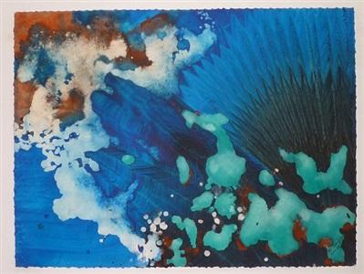 turquoise floating #65 by marlene yu