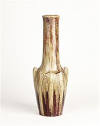 ribbed vase by émile decoeur