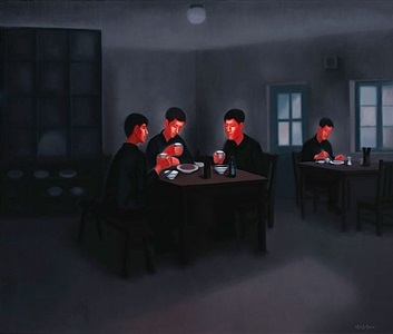 the past- lunch in the canteen by pan dehai