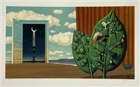 une porte s'ouvre sur la nuit veloutee (from les enfants trouves) by rené magritte