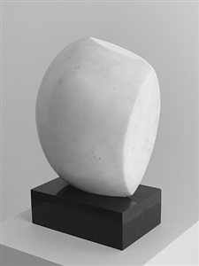 white marble and paint, from antiquity to now by hans arp