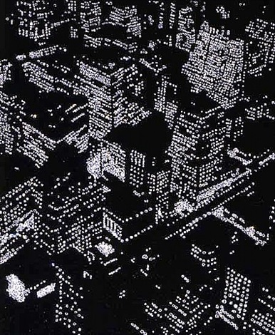 pictures of diamonds: new york at night, after berenice abbott by vik muniz