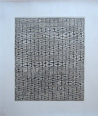 shaded recursive combs by james siena