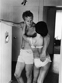 steve mcqueen and his wife, neile adams, at home, hollywood, california, 1963 by john dominis