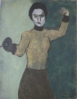 fencer by milton avery