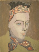 girl in scarf by milton avery