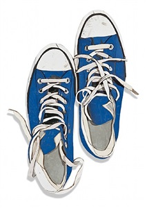 blue sneakers from above by diederick kraaijeveld