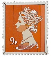9p queen stamp by diederick kraaijeveld