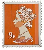 9p queen stamp by diederick kraaijeveld