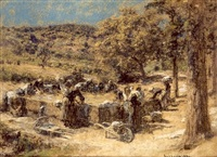 lavandieres en provence by léon augustin lhermitte