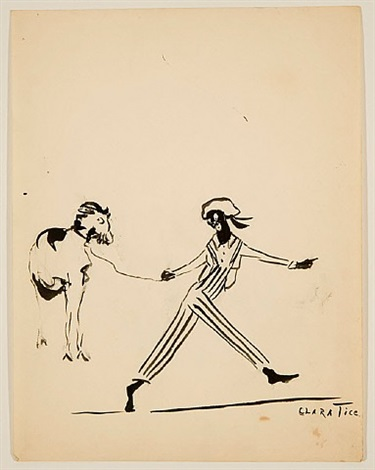 al jolson with goat by clara tice