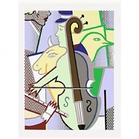 cubist cello corlett 311 by roy lichtenstein