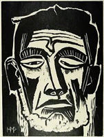 head of a fisherman by max pechstein