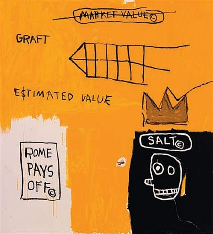 rome pays off by jean-michel basquiat