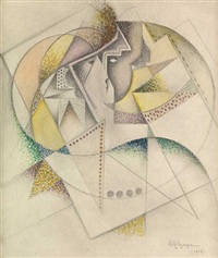 composition au deux visages by jean metzinger