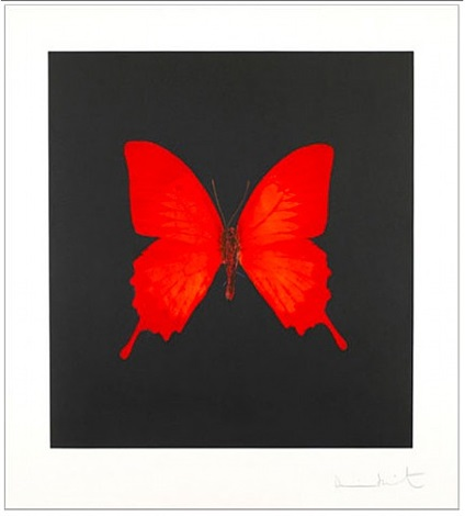 the souls on jacobs ladder take their flight (red) by damien hirst