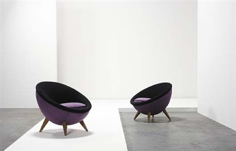 oeuf chair (egg chairs) by jean royère