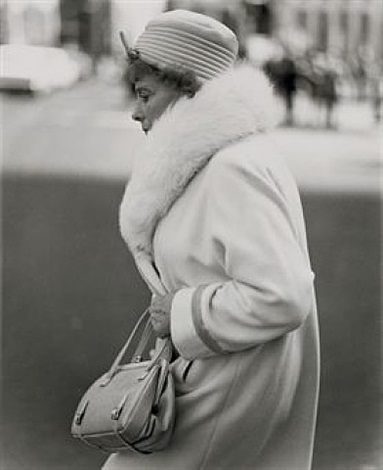 a woman passing on the street, n.y.c. by diane arbus