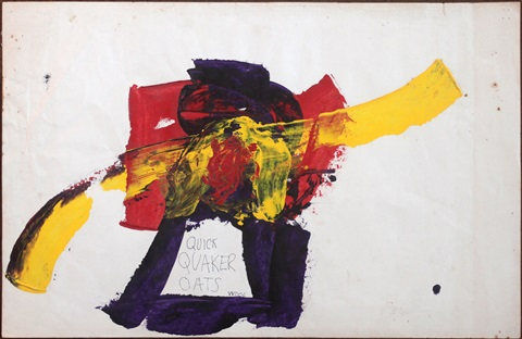 untitled quick quaker oats by christopher wool