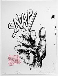 untitled (snap...), from plots on loan i by raymond pettibon
