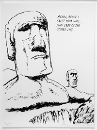 untitled (again, again i greet your wife...), from plots on loan i by raymond pettibon