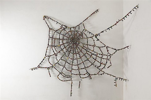 untitled cobweb (knots and crossing) by reena saini kallat